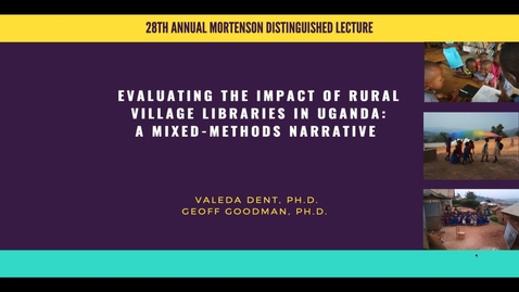 Thumbnail for entry 28th Annual Mortenson Center Lecture - Valeda Dent