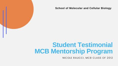 Thumbnail for entry Student Testimonial - Nicole Raucci