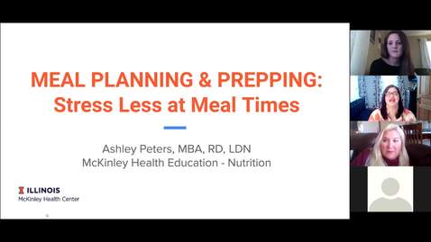 Thumbnail for entry Wellness Wednesday - Stress Less Meal Planning