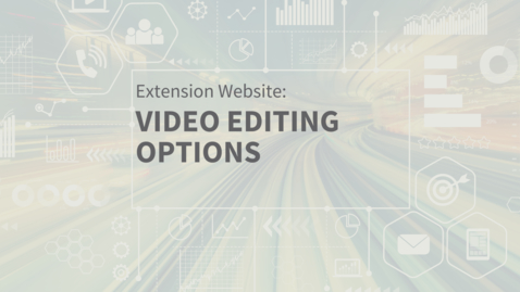 Thumbnail for entry EXT Comms: Video Editing Options using Canva Video Editor Spark