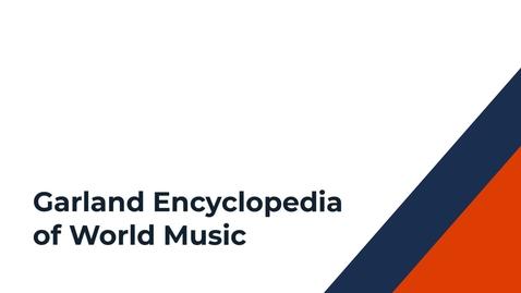 Thumbnail for entry Garland Encyclopedia of World Music