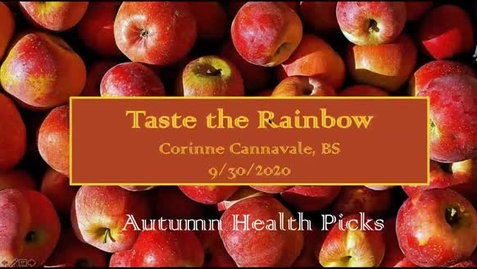 Thumbnail for entry Taste the Rainbow: A brief Overview of Carotenoids in Your Diet, Body, and Life