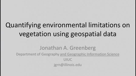 Thumbnail for entry NRES 2012 Spring Seminar Series - Jonathan A. Greenberg