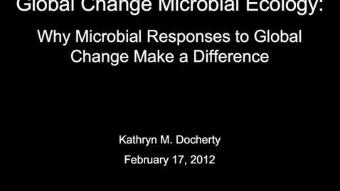 Thumbnail for entry NRES 2012 Spring Seminar Series - Kathryn M. Docherty