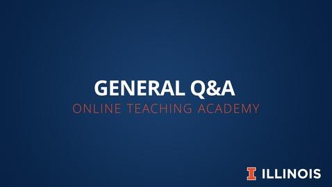 Thumbnail for entry OTA: General Q&A