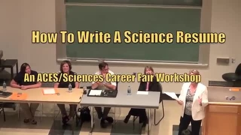 Thumbnail for entry How To Write A Science Resume