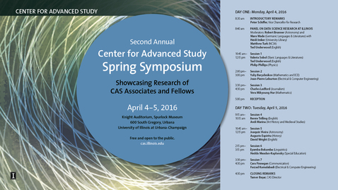 Thumbnail for entry 2016 CAS Spring Symposium--Session 1