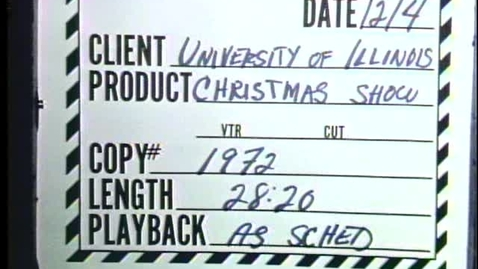 Thumbnail for entry Christmas Comes a Caroling, 1972~ Audiovisual Digital Surrogates from the University Videotapes, Series 39/1/15