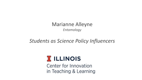 Thumbnail for entry Students as Science Policy Influencers