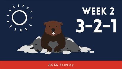 Thumbnail for entry ACES 3-2-1 Spring 2021 Faculty: Week 2