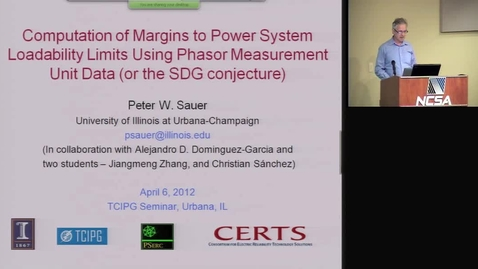 Thumbnail for entry Computation of Margins to Power System Loadability Limits Using Phasor Measurement Unit Data