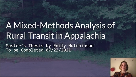 Thumbnail for entry A Mixed-Methods Analysis of Rural Transit in Appalachia