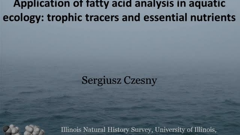 Thumbnail for entry NRES 2012 Fall Seminar Series - Sergiusz Czesny