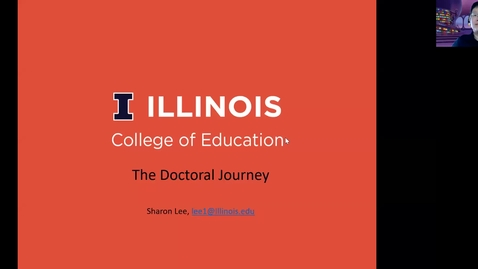 Thumbnail for entry The EdD Doctoral Journey