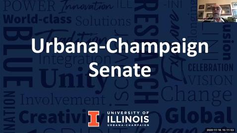 Thumbnail for entry Academic Senate Meeting, Nov. 16, 2020