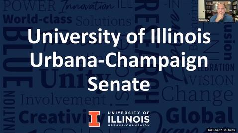 Thumbnail for entry Academic Senate Meeting, Sep. 20, 2021