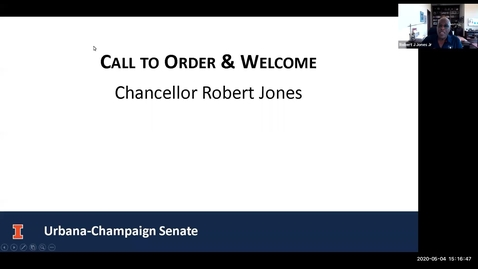 Thumbnail for entry Senate Elections and Organizational Meeting, May 4, 2020