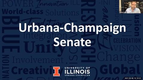 Thumbnail for entry Academic Senate Meeting, Mar. 8, 2021