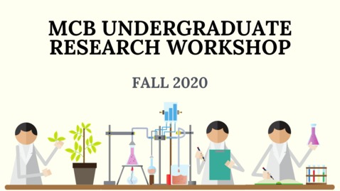 Thumbnail for entry MCB Undergraduate Research Workshop - Fall 2020