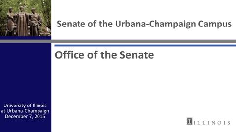 Thumbnail for entry Academic Senate Meeting, Dec. 7, 2015