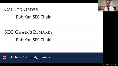Thumbnail for entry Academic Senate Meeting, Apr. 27, 2020