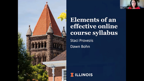 Thumbnail for entry OTA: Elements of effective online course syllabus