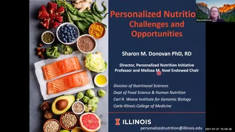 Thumbnail for entry 1.27.2021 - Sharon Donovan, PhD - Frontiers in Nutritional Sciences