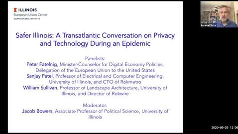 Thumbnail for entry Safer Illinois: A Transatlantic Conversation on Privacy and Technology During an Epidemic