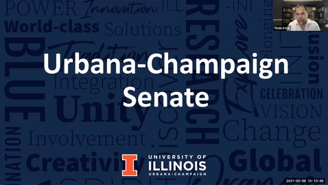 Thumbnail for entry Academic Senate Meeting, Feb. 8, 2021