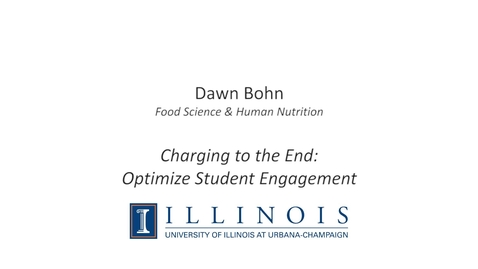 Thumbnail for entry Charging to the End: Optimize Student Engagement
