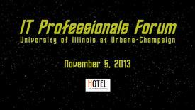 Thumbnail for entry IT Pro Forum 2013 Announcement