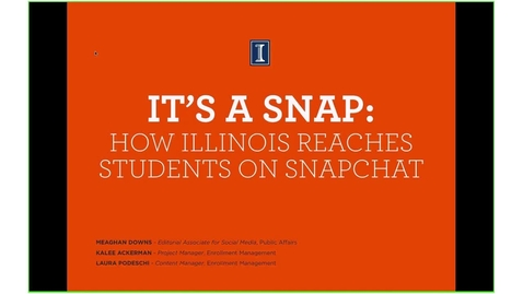 It's a Snap: How Illinois Reaches Students on Snapchat