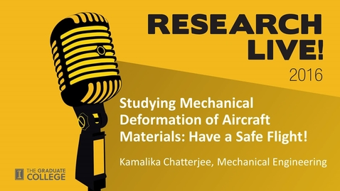 Thumbnail for entry Research Live 2016 - Kamalika Chatterjee