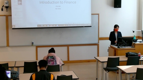 Thumbnail for entry Introduction to Finance (FIN 500 G) Fall 2021
