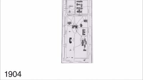 English Building 1904,  3D model - University Sesquicentennial Celebration