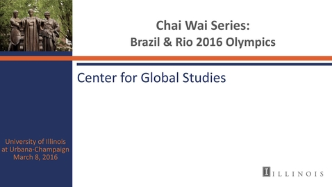 Thumbnail for entry Chai Wai Series: Brazil and Rio 2016 Olympics