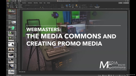 Thumbnail for entry Media Commons 2.0: How to Best Utilize the Media Commons to Produce Promotional Media
