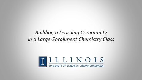 Thumbnail for entry Building a Learning Community