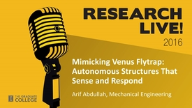 Thumbnail for entry Research Live 2016 - Arif Abdullah