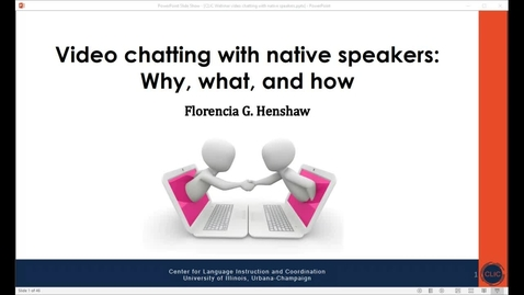 Thumbnail for entry CLIC webinar: Video chatting with native speakers: Why, What, How