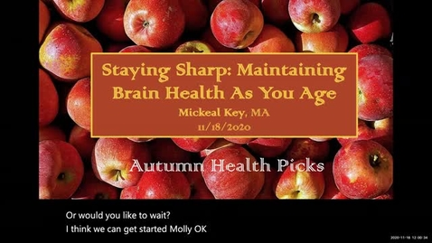 Thumbnail for entry Staying Sharp: Maintaining Brain Health As You Age