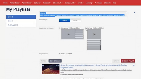 Thumbnail for entry Curating and using content with Playlists - Faculty and Staff