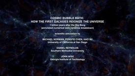 Thumbnail for entry Cosmic Bubble Bath: How the First Galaxies Reionize the Universe [variables w/labels]