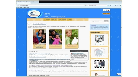 Thumbnail for entry FINDING IEL Resources Related to the Illinois Early Learning & Development Standards (IELDS)