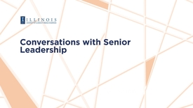 Thumbnail for entry Conversations with Senior Leadership, April 24, 2018