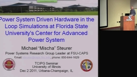 Thumbnail for entry Power System Driven Hardware in the Loop Simulations at FSU Center for Advanced Power Systems