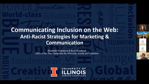 Thumbnail for entry Communicating Inclusion on the Web: Anti-Racist Strategies for Marketing and Communication