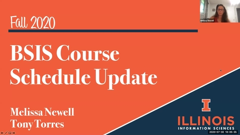 Thumbnail for entry Fall 2020 BSIS Course Schedule Update Session