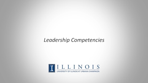 Thumbnail for entry Leadership Competencies