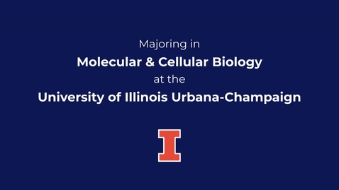 Thumbnail for entry Majoring in Molecular and Cellular Biology at the University of Illinois Urbana-Champaign